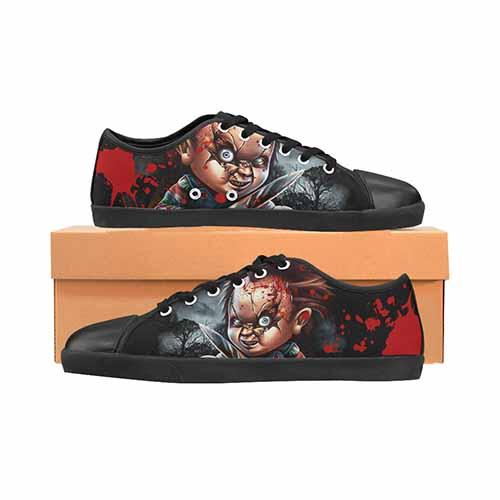 Chucky Horror LADIES Canvas Shoes - Undead Inc Women's Canvas Shoes,