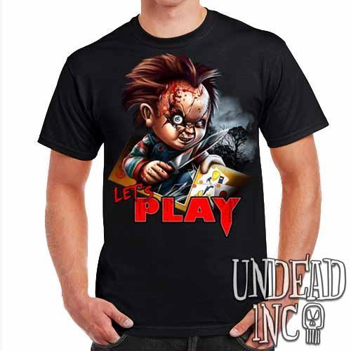 Chucky Let's Play - Mens T Shirt - Undead Inc Mens T-shirts,