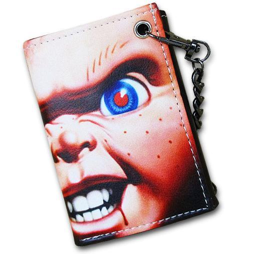 Chucky Child's Play Horror Movie Wallet With Chain - Undead Inc Wallet,