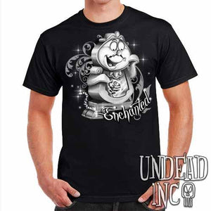 "Cogsworth ""Enchanted"" Rose Beauty & the Beast - Mens T Shirt Black Grey - Undead Inc Mens T-shirts,"