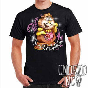 "Cogsworth ""Enchanted"" Rose Beauty & the Beast - Mens T Shirt - Undead Inc Mens T-shirts,"