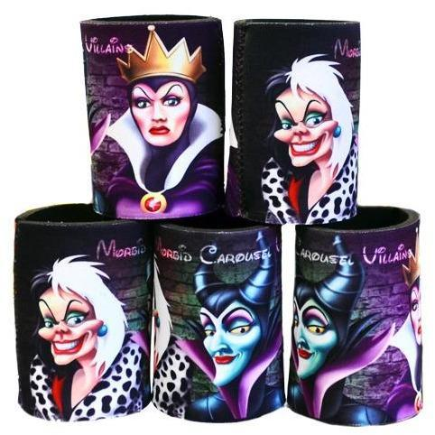 Villains Maleficent Cruella Evil Queen Stubby Cooler