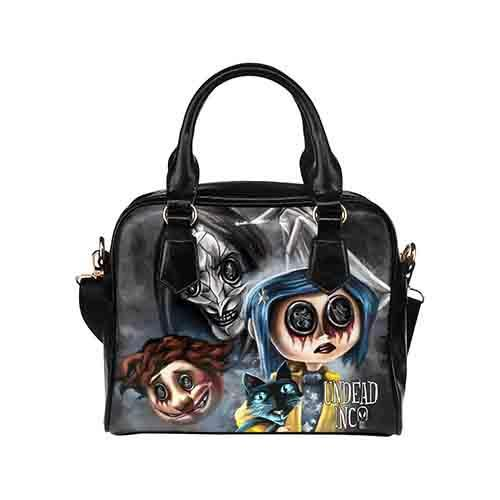 Coraline Button Eyes Undead Inc Shoulder / Hand Bag