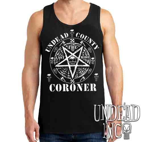 Undead Inc County Coroner - Mens Tank Singlet Mens Tanks Undead Inc