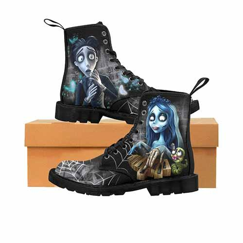 Corpse bride LADIES Martin Boots - Undead Inc Womens Boots,