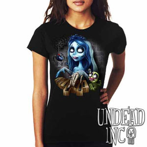 Corpse Bride Piano - Ladies T Shirt - Undead Inc Ladies T-shirts,