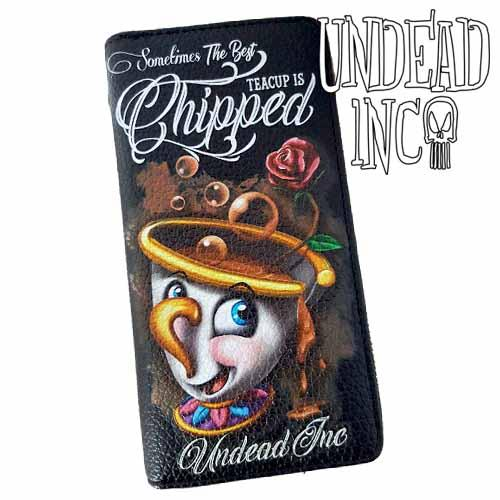 Beauty & The Beast Chip Undead Inc Premium Pu Leather Long Line Wallet