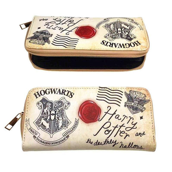 Harry Potter Hogwarts Deathly Hallows Letter Long Line Wallet