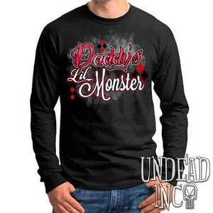 Harley Quinn Daddy's Lil Monster - Mens Long Sleeve Tee