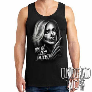 Beautiful Death - Day of the Dead  - Mens Tank Singlet - Undead Inc Mens Tanks,