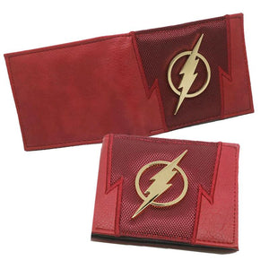 The Flash Metal Logo PU Leather Bifold Wallet