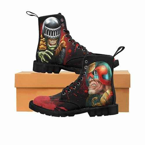 Judge Dredd & Judge Death MENS Toe Print Variant Martin Boots