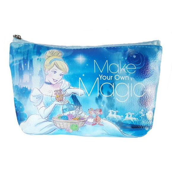 Disney Cinderella Make your Own Magic Pu Leather Makeup Cosmetics Bag - Undead Inc Cosmetics Bag,
