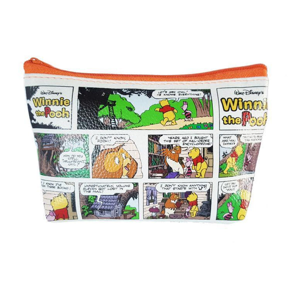 Disney Winnie The Pooh Comic Strip Pu Leather Makeup Cosmetics Bag - Undead Inc Cosmetics Bag,