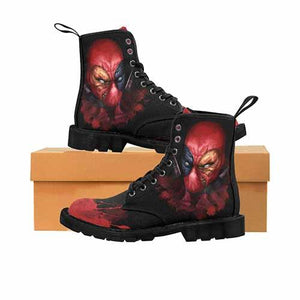 Deadpool LADIES Black Sole Martin Boots - Undead Inc Womens Boots,