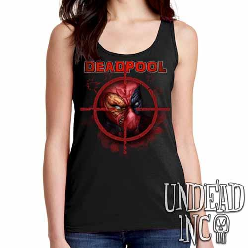 Deadpool - Ladies Singlet Tank - Undead Inc Ladies Tank Tops,