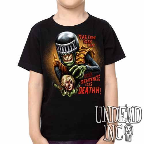 Judge Death - The Crime is Life 2000 ad Dredd - Kids Unisex Girls and Boys T shirt Clothing