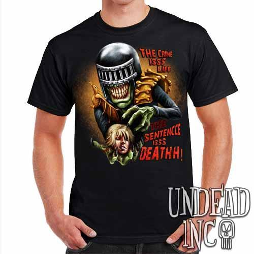 Judge Death - The Crime is Life 2000 ad Dredd - Mens T Shirt