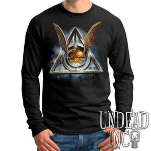 Deathly Hallows Snitch - Mens Long Sleeve Tee