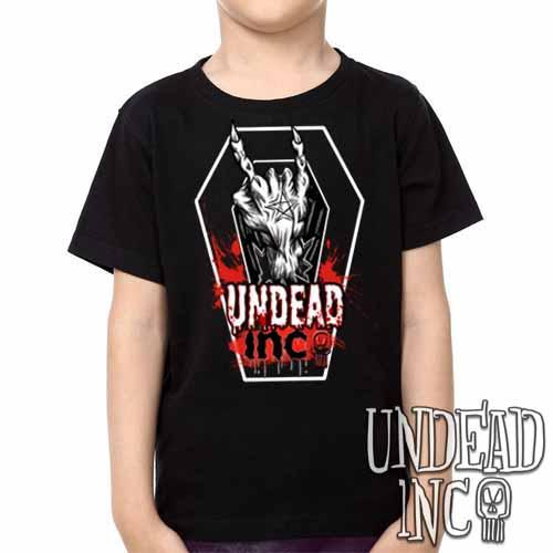 Undead Inc Devil Horns -  Kids Unisex Girls and Boys T shirt Clothing