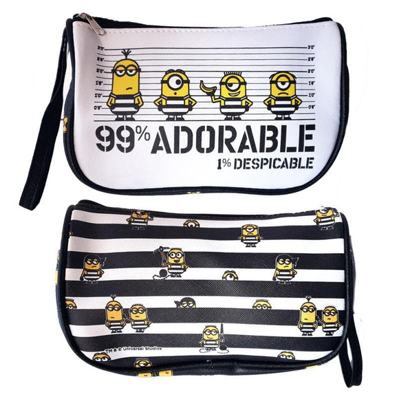 Despicable Me Jail House Minions 1% Makeup Cosmetics Bag