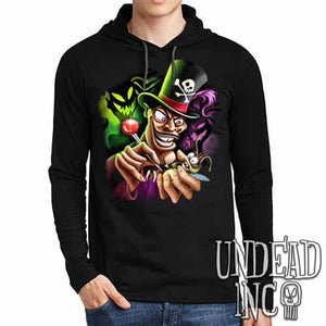 Villains Dr Facilier Voodoo Ray - Mens Long Sleeve Hooded Shirt