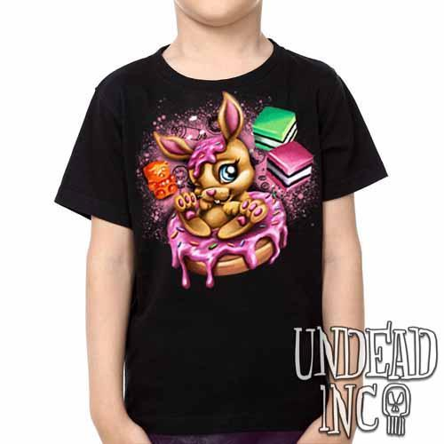 Donut Bunny -  Kids Unisex Girls and Boys T shirt Clothing - Undead Inc Kids T-shirts,