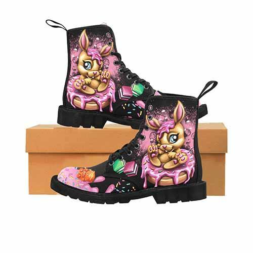 Donut Bunny Sweet Treats LADIES Martin Boots