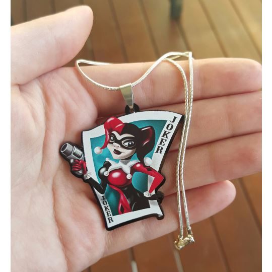 Harley Quinn Joker Card Necklace - Undead Inc ,