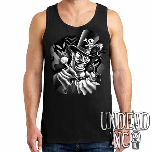 Villains Dr Facilier Voodoo Ray Black Grey Mens Tank Singlet