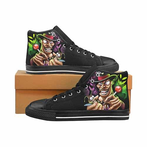 Villains Doctor Facilier Voodoo LADIES Classic High Top Canvas Shoes