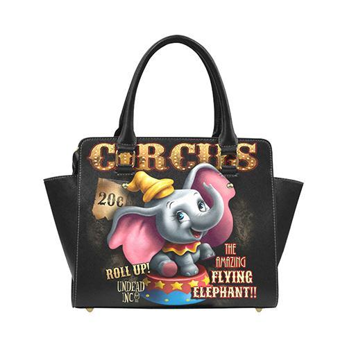 Undead Inc Dumbo Circus Premium PU Leather Stud Detail Shoulder / Hand Bag