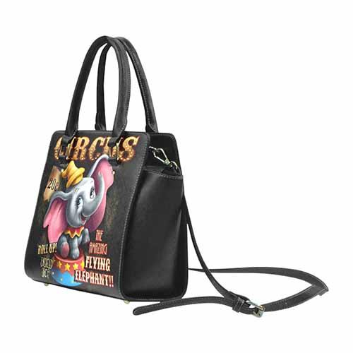 Undead Inc Dumbo Circus Premium PU Leather Stud Detail Shoulder / Hand Bag Shoulder Handbags Undead Inc