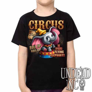 Dumbo Circus -  Kids Unisex Girls and Boys T shirt Clothing - Undead Inc Kids T-shirts,