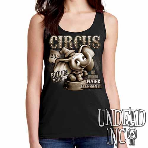 Dumbo Circus Vintage - Ladies Singlet Tank - Undead Inc Ladies Tank Tops,