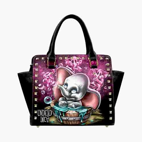 Dumbo Bubble Bath Parade Premium Undead Inc PU Leather Stud Detail Shoulder / Hand Bag