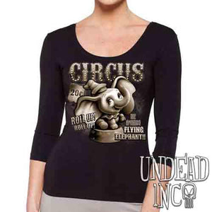 Dumbo Circus Vintage - Ladies 3/4 Long Sleeve Tee