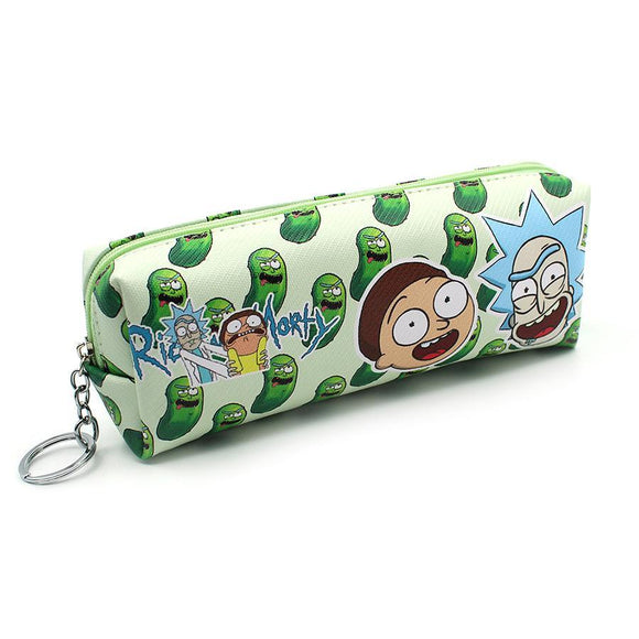 Rick & Morty Pickles Pu Leather Makeup Cosmetics Bag