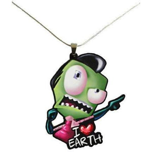 Invader Zim I Luv Earth Necklace - Undead Inc ,