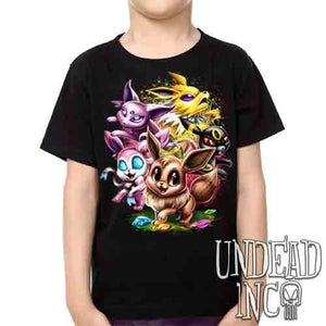 Eevee Evolution -  Kids Unisex Girls and Boys T shirt
