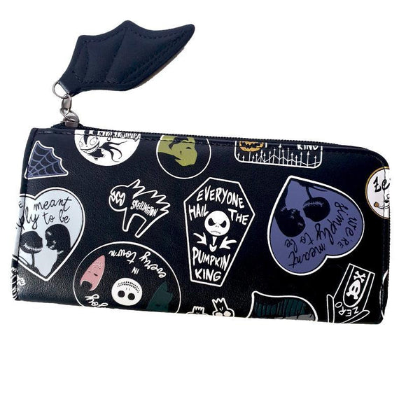 Nightmare Before Christmas Bat Wing Pu Leather Long Line Wallet