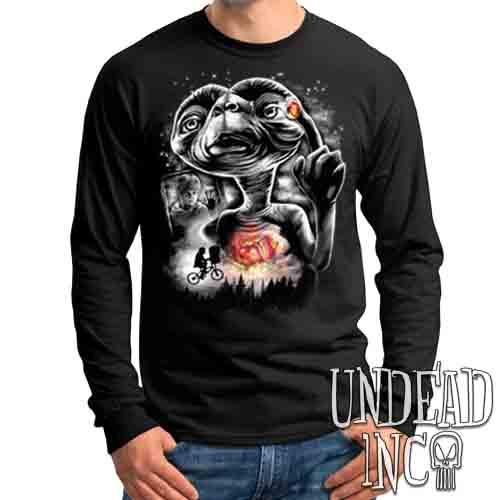 E.T Going Home Black & Grey - Mens Long Sleeve Tee
