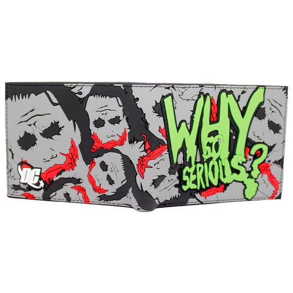 Dark Knight Joker Why So Serious Bifold Wallet - Undead Inc Wallet,