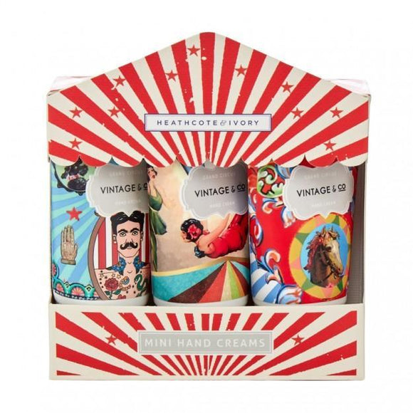 Vintage Circus Hand Cream Set Of 3