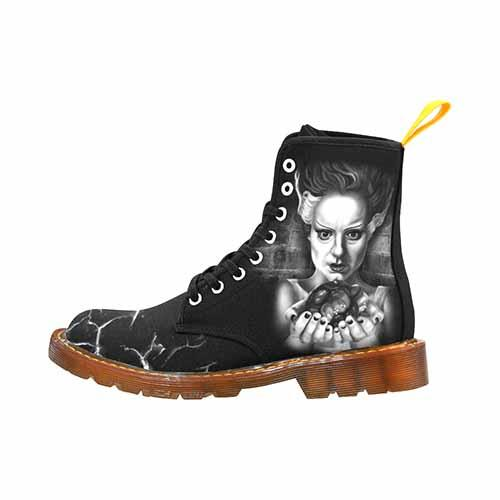 Frankenstein and Bride Ladies Martin Boots - Undead Inc Womens Boots,