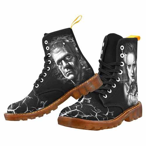 Frankenstein and Bride MENS Martin Boots - Undead Inc Mens Boots,