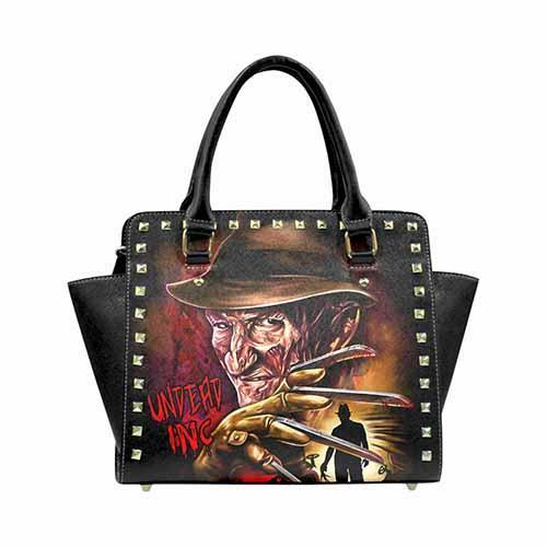 Freddy Krueger Elm St Premium PU Leather Stud Detail Shoulder / Hand Bag - Undead Inc Shoulder Handbags,