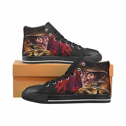 Freddy Krueger Elm St Men's Classic High Top Canvas Shoes