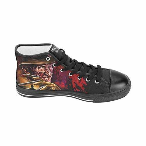 Freddy Krueger Elm St Women's Classic High Top Canvas Shoes Women's High Top Canvas Undead Inc