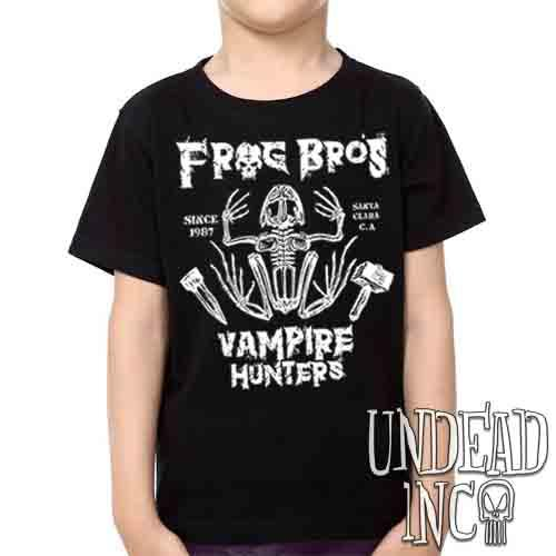 Frog Bros. Vampire Hunters - Kids Unisex Girls and Boys T shirt Kids T-shirts Undead Inc